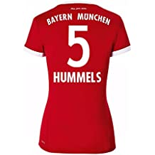 2017-18 Bayern Munich Home Womens Football Soccer T-Shirt Camiseta (Mats Hummels