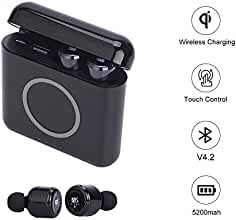 Zagzog - Auriculares inalámbricos Bluetooth con control táctil y cancelación de ruido, auriculares inalámbricos para