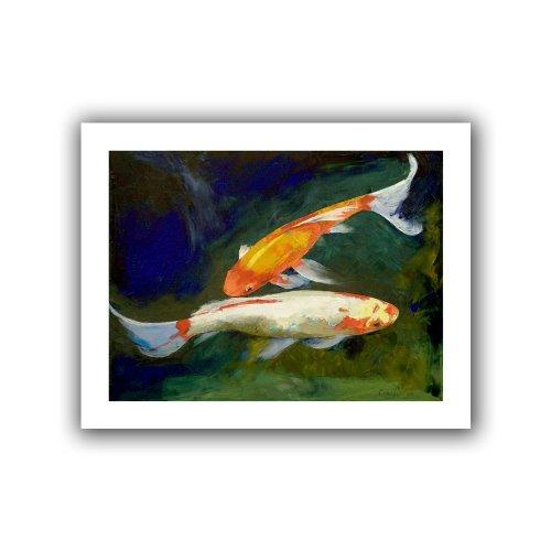 Art Wandbild Feng Shui Koi Fisch Brillanz Kunstdruck auf Leinwand von Michael Creese, 18 by 22-Inch - Koi Feng-shui Fisch