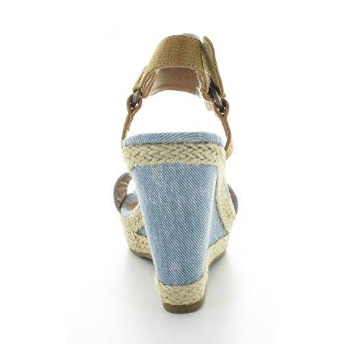 Kaporal Rose, Sandales femme Bleu (Bleu Denim)