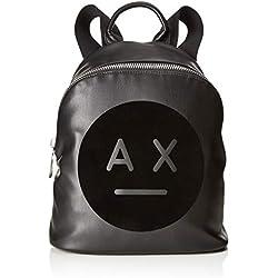 Armani Exchange - Graphic Logo Backpack, Bolsos mochila Mujer, Negro (Nero), 31.0x15.0x27.0 cm (B x H T)