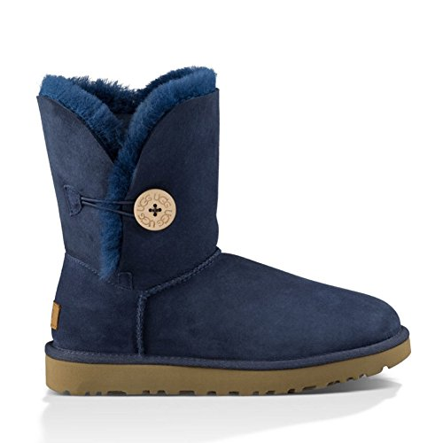 Ugg Australia Womens Bailey Button ll Sheepskin twinsole and suede Boots Braun