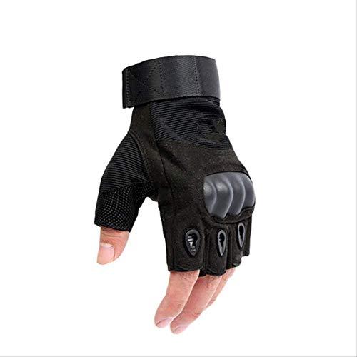 PMWLKJ Armee Herren Taktische Handschuhe Outdoor Sport Halbfinger Militärischen Kampf Anti-rutsch Carbon Fiber Shell Taktische Handschuhe Xl schwarz -