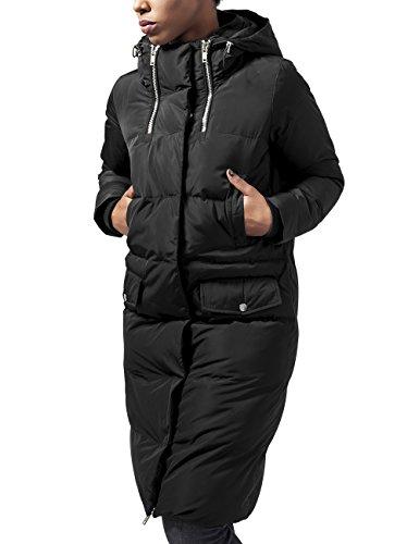 Gefütterter Gesteppte Jeans (Urban Classics TB1371 Damen Trenchcoat Mantel Ladies Bubble Coat,Gr. 38 (Herstellergröße: M), Schwarz (black 7))