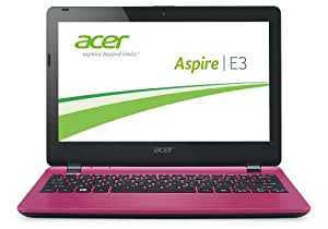 Acer Aspire E3-111-C3W0 29,5 cm (11,6 Zoll) Notebook (Intel Quad Core N2930, 2,17GHz, 2GB RAM, 500GB HDD, Intel HD Graphics, Win 8.1) pink