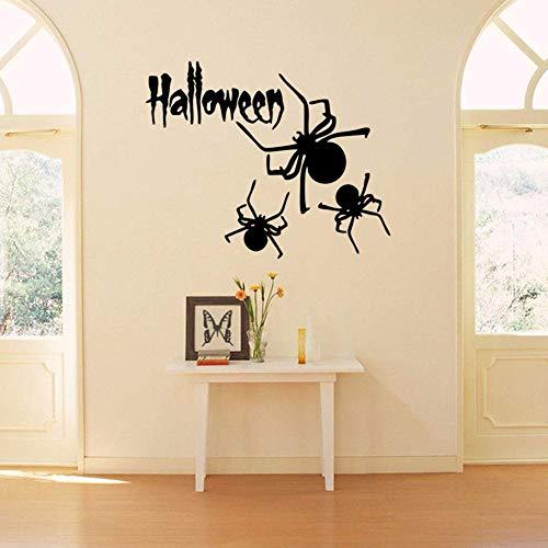 GQFGYYL-QD wandsticker Halloween - Serie Spider Geschnitzte wandsticker - scheiben Aufkleber wasserdicht herausnehmbaren