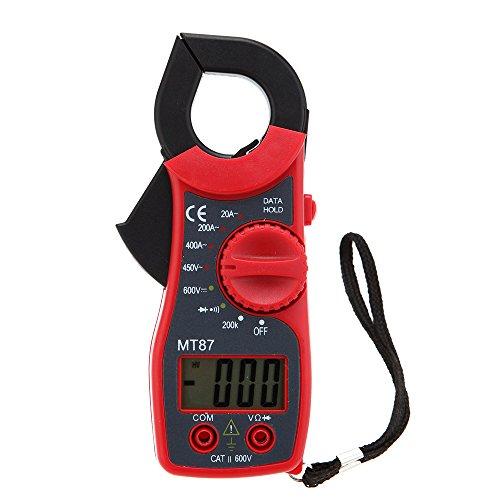 KKmoon MT87 31/2 Pinza Amperimétrica Digital Automático Voltímetro AC/DC CA Amperímetro Ohmetro W Retención de Datos