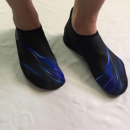 Kasit Unisex Barfuß Wasser-Haut-Schuhe für Strand-Schwimmen Surf Yoga-Übung  ...