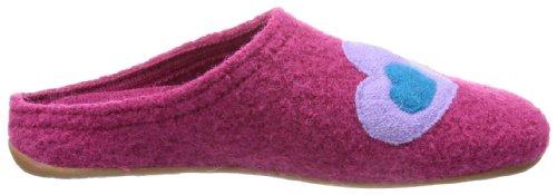 Haflinger - Everest Classic Herz, Pantofole Donna Rosa (Pink (fuchsia 34))
