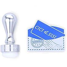 Uñas estampador, Cici & SISI Nail Art Sello y raspador herramienta de estampación Set–Plata