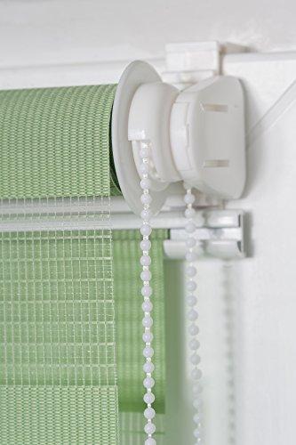 K-home Klemmfix Doppelrollo Madrid ohne Bohren Grün 40 x 150 cm (B x L) - 6