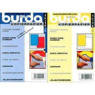 Burda 2Packungen Kohlepapier, blau/rot/gelb/weiß