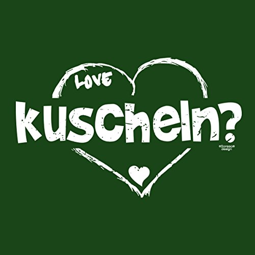 Geschenkidee Valentinstag Geburtstag Vatertag Weihnachten :-: Herren kurzarm Sprüche T-Shirt :-: kuscheln :-: Papa Vater Eheman Freund für Ihn :-: Farbe: dunkelgrün Dunkelgrün