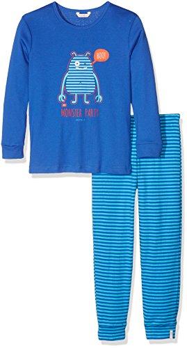 ESPRIT Bodywear Jungen Zweiteiliger Schlafanzug 106EF8Y003, Blau (Bright Blue 410), 116 (Herstellergröße: 116/122)