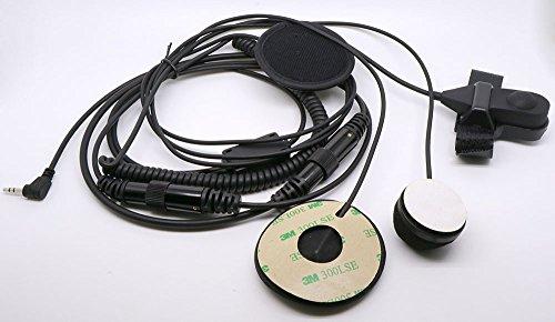 hksunkin Full Face Motorrad Helm Ohrhörer Headset Mikrofon für Motorola Radio, T5400FV2002,5mm