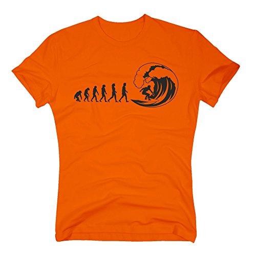 Herren T-Shirt - Surfer Evolution - von SHIRT DEPARTMENT rot-weiss
