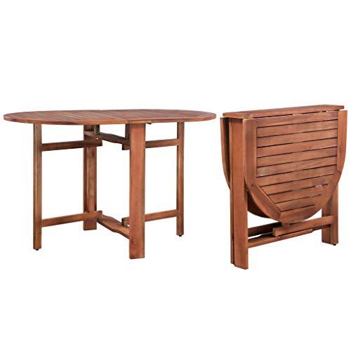 vidaXL Table Ovale d'Extérieur à Dîner Bois d'Acacia Terrasse Table de Jardin