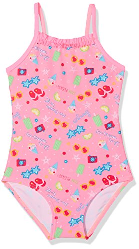 DIMO-TEX Sun Baby-Mädchen Einteiler Badeanzug UV-Schutz 50, Mehrfarbig (Pink, AOP Ice Cream), 80