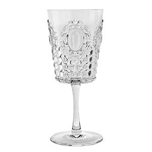 BACI - Lot de 6 verres à vin en acrylique - BAROQUE & ROCK - Transparent