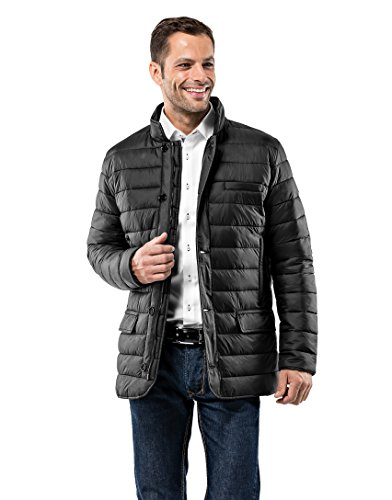 Vincenzo Boretti Men's Jacket Blazer Design Slim-Fit Fitted Quilted Soft Long-Sleeve Lightweight Warm Smart Elegant Men Designer Padded Jacket