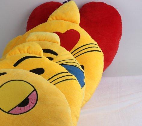 """minifamily® 32cm Emoji-Kissen Smiley Emoticon Kissen gefüllt """"weichen Plüsch Spielzeug Puppe Geschenk Home Decor (Herz) - 3"""