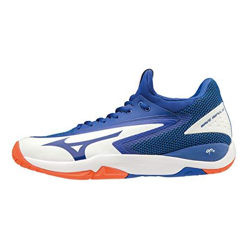 Mizuno Wave Impulse Ac, Scarpe da Tennis Uomo, Bianco (White/Reflex Blue/Nasturtium 27), 42 EU