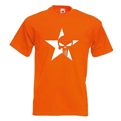 KIWISTAR - US Punisher Stern Star T-Shirt in 15 verschiedenen Farben - Herren  Funshirt