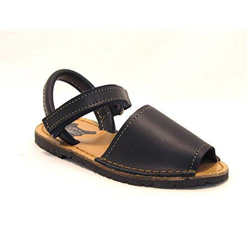 15091 - Sandalias ibicencas Velcro Azul Marino 33