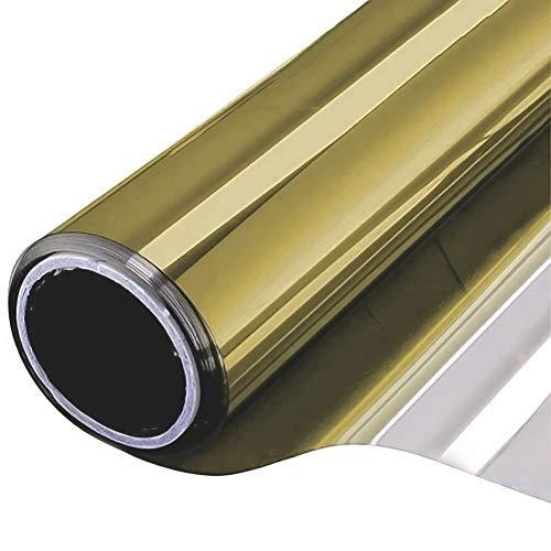 NewStar Sonnenschutzfolie | selbsthaftende Fensterfolie | UV-Schutz & Sichtschutzfolie, Kratzfest,Verdicken Materialstärke 0.1 mm (Gold, 60 x 200 cm)