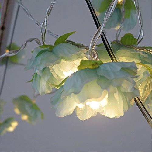 Led Blume Fee Grün Batterie Lichter Girlanden Dekoration Für Girlande Weihnachten Neujahr Warmweiß 10Meters80Lamps (Batterie) (Mini-licht-girlande)