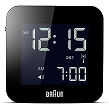 Braun BNC008BK-RC - Reloj despertador digital de viaje, color negro