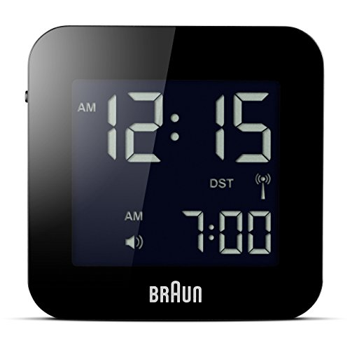 Braun BNC008BK-RC - Reloj despertador digital de viaje, color negro