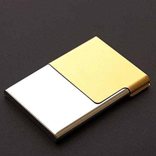 SANMULYH �Elettroplaccatura Semi Aperta Clip Di Carta Business Business Card Box, Business Card Box,