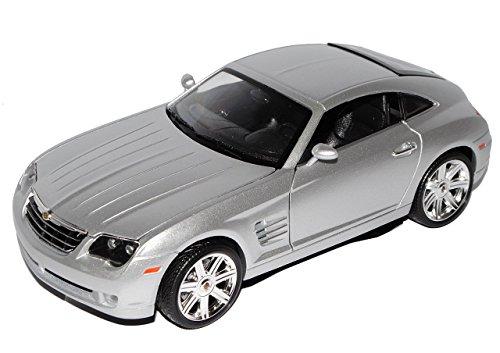 chrysler-crossfire-coupe-2003-2007-silber-1-18-maisto-modell-auto-mit-individiuellem-wunschkennzeich