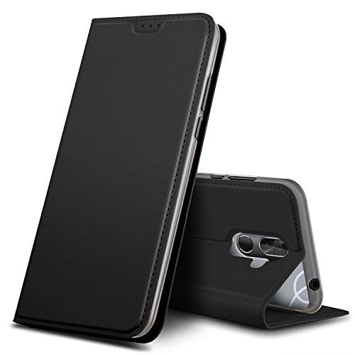 GeeMai Cubot X18 Plus Hülle, Premium Flip Case Tasche Cover Hüllen mit Magnetverschluss [Standfunktion] Schutzhülle Handyhülle für Cubot X18 Plus Smartphone, Schwarz