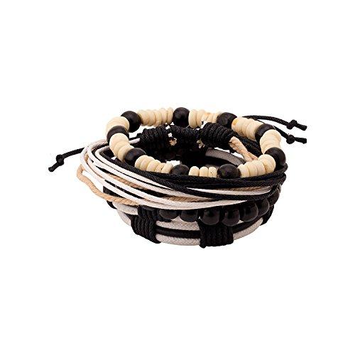 Dare By Voylla Black Leather Bracelet For Men