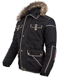 Nebulus Winterjacke Parka GSTAAD - Chaqueta de pluma para hombre, color negro, talla S
