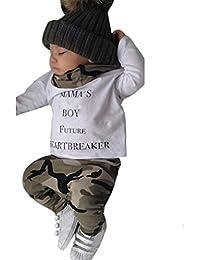 Xinan Bekleidung Set Junge Neugeborenen Kids Baby Boys Outfits Kleidung Letter T-shirt Tops + Camouflage Hose