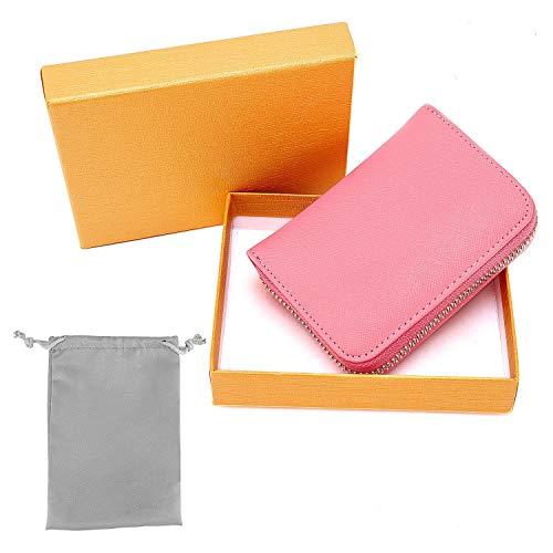 8fb4b585f0 RFID Porta Carte di Credito, Portafoglio multifunzionale, Pelle Portamonete  con Cerniera, Caso di