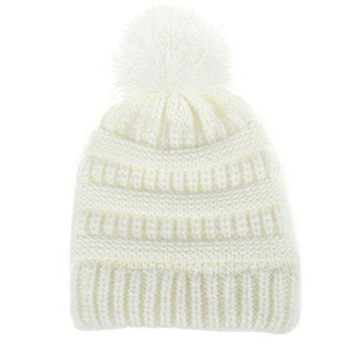 Recién nacido linda moda mantener calientes sombreros de invierno Sombrero  de dobladillo de lana de punto 2982682dbc6