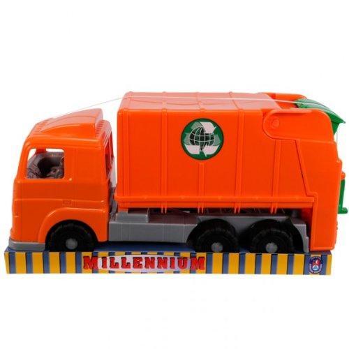 Millennium Müll-LKW Müllwagen Lastkraftwagen Spielzeug Auto Fahrzeug ca. 50 cm orange NEU (Grün Spielzeug-müll-lkw)
