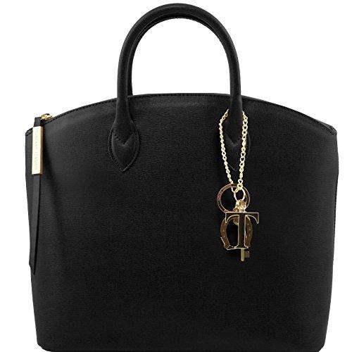 Tuscany Leather - TL KeyLuck - Borsa shopper in pelle Saffiano - TL141261/4 Nero