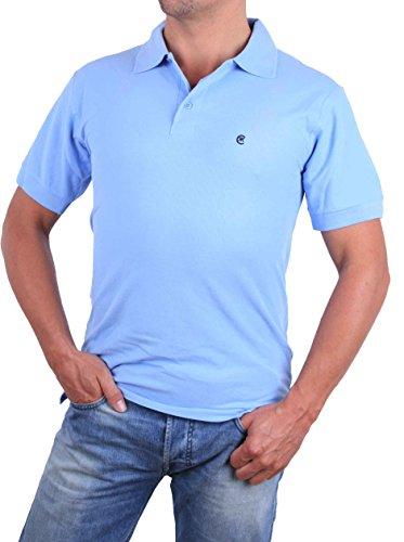 Cerrutti Herren Poloshirt Polo Shirt Kurzarm Hellblau