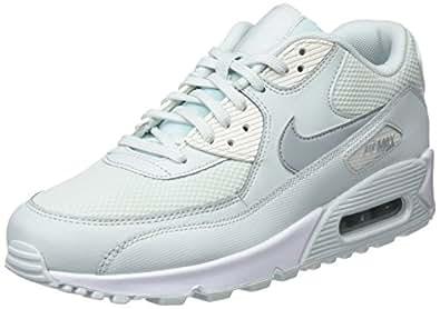 Nike Wmns Air Max 90 Damen Sneakers, Blau (Barely Grau/Light Pumice/Sail 053), 36.5 EU