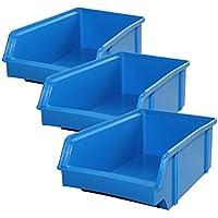 Lantelme 5606Cajas 10Unidades–Caja de almacenamiento, plástico apilable Color Azul De Fabricación Alemana.