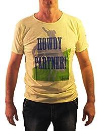 1stAmerican Shirt Uomo Girocollo 100% Cotone Jersey Fiammato Stampa Serigrafica
