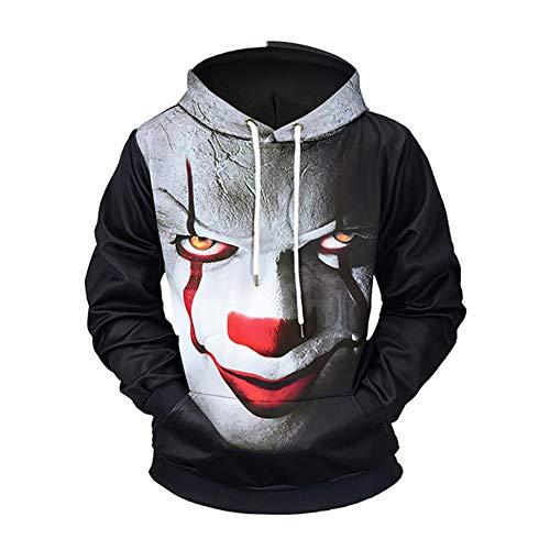 creatspaceDE New Herren Sweatshirts Mantel Men Outdoor 11D Striped Druck Sweater mit Kapuze lose mit Kapuze Tops Hoody Sport-Sweatshirts Farbe: schwarz