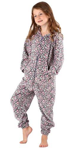 erbst Winter Warme Jungen Mädchen Kinder Schlafanzug Nachtanzug Hausanzug Onesie Einteiler Strampelanzug ()