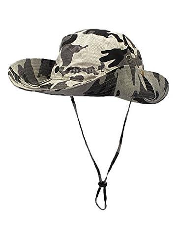 Outfly Women Men Outdoor Sun Protection Bucket Hat Fisherman's Hat
