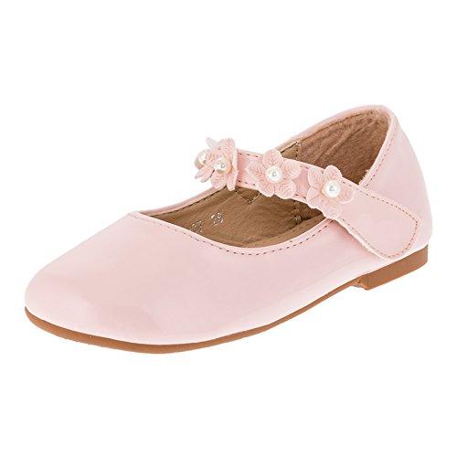 Max Shoes Festliche Mädchen Ballerina Schuhe in Vielen Farben #269rs Rosa Gr.28 (Ballerinas Rosa)